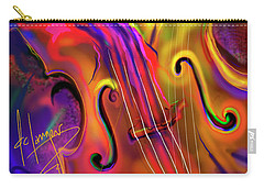 Carry-all Pouch featuring the painting Double Bass Solo by DC Langer