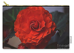 Double Begonia Bloom Carry-all Pouch by Patti Whitten