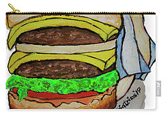 Double Cheeseburger Carry-all Pouch