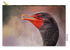 Double Crested Cormorant  Carry-all Pouch by Cyndy Doty