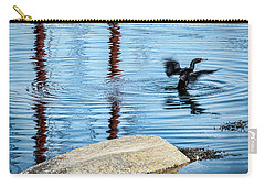 Carry-all Pouch featuring the photograph Double-crested Cormorant by Daniel Hebard