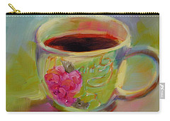 Carry-all Pouch featuring the painting Double Espresso, Please by Chris Brandley
