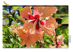 Carry-all Pouch featuring the photograph Double Headed Hibiscus by Brian Eberly