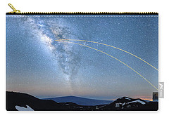 Double Lasers With The Milky Way Panorama Carry-all Pouch