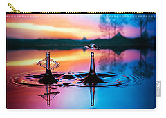 Carry-all Pouch featuring the photograph Double Liquid Art by William Lee