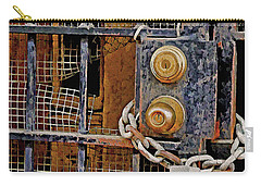 Carry-all Pouch featuring the mixed media Double Locked by Lynda Lehmann
