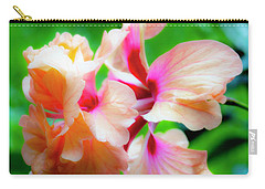 Double Peach Hibiscus Two Carry-all Pouch