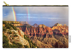 Double Rainbow At Grand Canyon North Rim Carry-all Pouch
