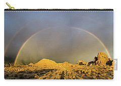 Carry-all Pouch featuring the photograph Double Rainbow Gold by Gaelyn Olmsted