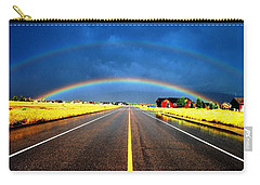 Double Rainbow Over A Road Carry-all Pouch