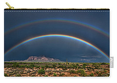 Carry-all Pouch featuring the photograph Double Rainbow  by Saija Lehtonen