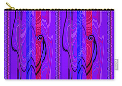 Carry-all Pouch featuring the digital art Double Vision by Brooks Garten Hauschild