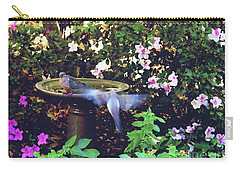 Carry-all Pouch featuring the photograph Dove In Flight by Debra Crank