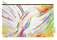 Carry-all Pouch featuring the mixed media Holy Spirit by Jessica Eli
