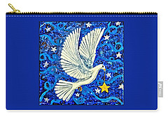 Carry-all Pouch featuring the painting Dove With Star by Lise Winne