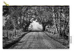 Carry-all Pouch featuring the photograph Down A Lonely Road by Douglas Stucky