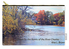 Down By The Banks Of The River Charles Carry-all Pouch by Rita Brown