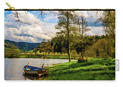Down By The Lake Photodigitalpainting Carry-all Pouch by David Dehner