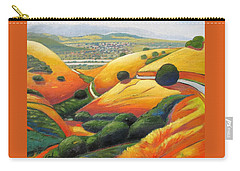 Carry-all Pouch featuring the painting Down Metcalf Road by Gary Coleman