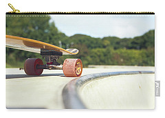 Carry-all Pouch featuring the photograph Down The Skatepark by Will Gudgeon