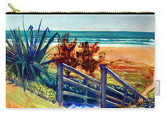 Down The Stairs To The Beach Carry-all Pouch by Winsome Gunning