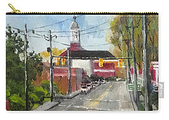Carry-all Pouch featuring the painting Down Town Jacksonville Nc by Jim Phillips
