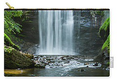Carry-all Pouch featuring the photograph Downstream Shade Looking Glass Falls Great Smoky Mountains Art by Reid Callaway
