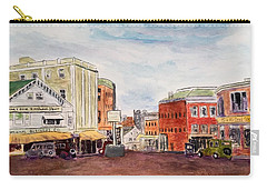 Downtown Amesbury Ma Circa 1920 Carry-all Pouch