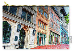 Downtown Asheville City Street Scene II Painted Carry-all Pouch