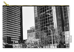Carry-all Pouch featuring the photograph Downtown Bubble Reflections by Darcy Michaelchuk