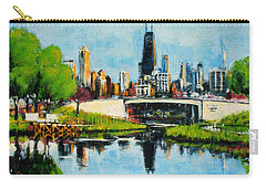 Downtown Chicago From Lincoln Park Carry-all Pouch