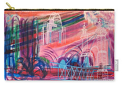 Carry-all Pouch featuring the painting Downtown Cincinnati by Diane Pape