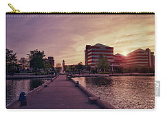 Carry-all Pouch featuring the photograph Downtown Neenah Sunset by Joel Witmeyer