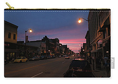Carry-all Pouch featuring the photograph Downtown Racine At Dusk by Mark Czerniec