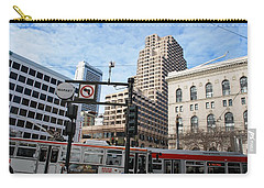Downtown San Francisco - Market Street Buses Carry-all Pouch by Matt Harang