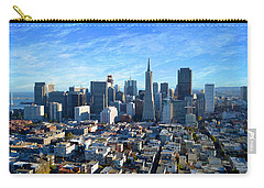 Carry-all Pouch featuring the photograph Downtown San Fransisco by Glenn McCarthy Art and Photography