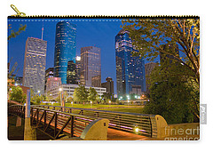 Dowtown Houston By Night Carry-all Pouch