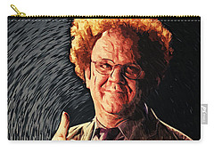 Carry-all Pouch featuring the digital art Dr. Steve Brule by Taylan Apukovska