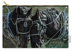 Carry-all Pouch featuring the photograph Draft Horses by Mary Hone