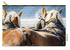 Draft Horses Ready Carry-all Pouch