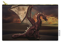 Dragon At Sunset Carry-all Pouch