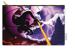 Dragon Attack Carry-all Pouch by The Dragon Chronicles - Steve Re