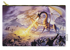 Dragon Battle Carry-all Pouch by The Dragon Chronicles - Steve Re
