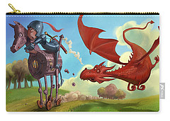 Dragon Chase Carry-all Pouch by Andy Catling
