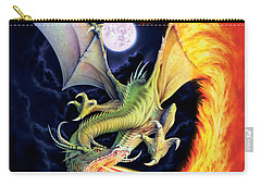 Dragon Fire Carry-all Pouch by The Dragon Chronicles