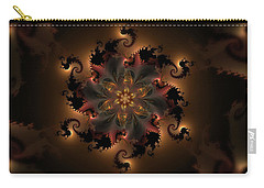 Dragon Flower Carry-all Pouch by GJ Blackman