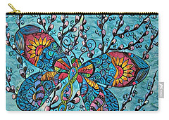 Dragon Fly And Pussy Willow Carry-all Pouch