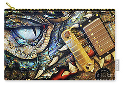Carry-all Pouch featuring the photograph Dragon Guitar Prs by Martin Konopacki