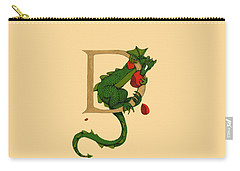 Dragon Letter D 2016 Carry-all Pouch by Donna Huntriss