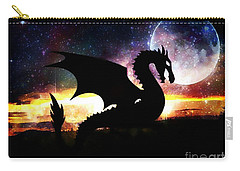Dragon Silhouette Carry-all Pouch by Maria Urso